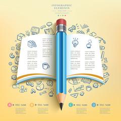 business education pencil Infographics