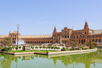Plaza de Espana in Sevilla, Spain