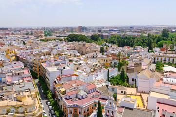 Cityscape in Sevilla, Spain