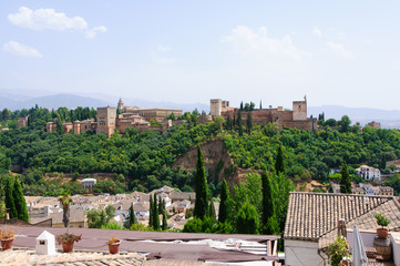 The Palacio de la Alhambra in Granada, Spain