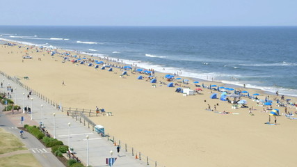 Virginia Beach boardwalk and beach