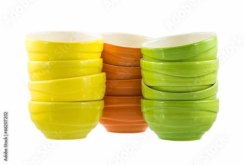 colorful ceramic bowls