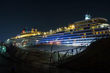 The Queen Elizabeth at Yokohama Japan