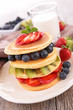 pancake and berry fruit