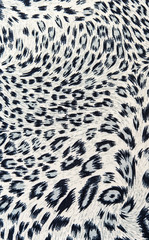 The fabric on striped leopard