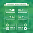 Infographic Business Concept in Green Color