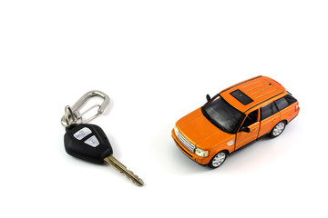 car key and car model