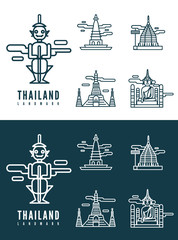 Thailand landmarks. flat design element. vector