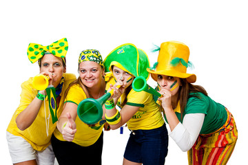 Brazilian girls celebrating