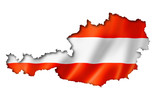 Austrian flag map