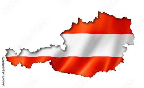 Austrian flag map