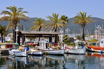 Port of Cavalaire-sur-Mer in France