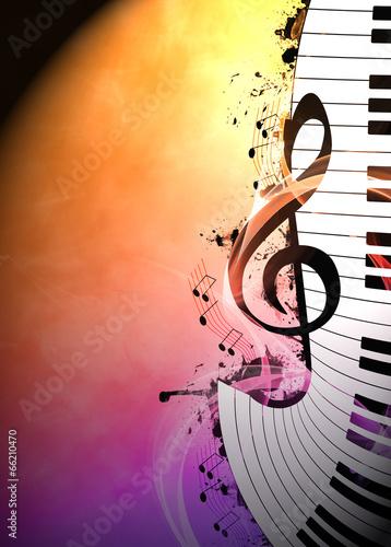 Leinwanddruck Bild Music background