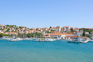 Cityscape of Trogir in Croatia
