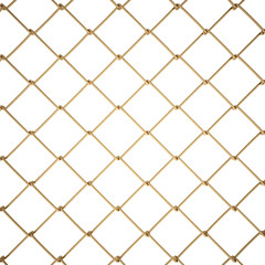 3d Wire Fence Gold