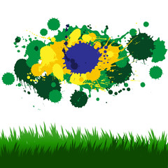 Vector design elements in style of Brazil football championship
