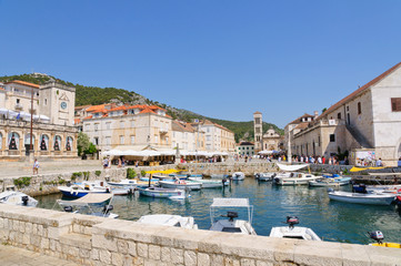 Old town of Hvar in Croatia