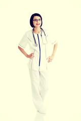 Young nurse or female doctor or nurse