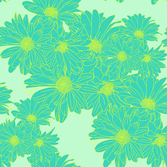 Flower pattern seamless, Eps 10