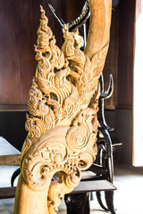 Wooden carved in  Black house museum (Ban Dam) of art in Chiang