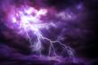 Leinwanddruck Bild - Lightning strike