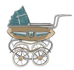 Baby stroller vintage