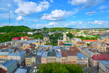 Lviv City skyline