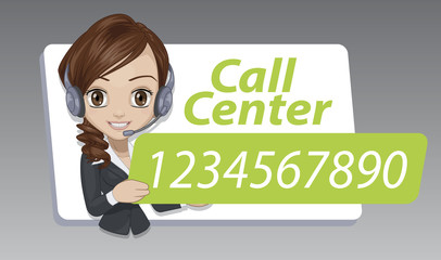 Call center label