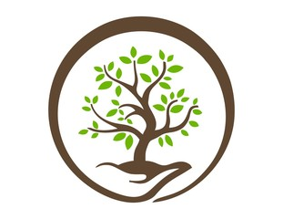 hand tree logo,nature symbol,global life icon