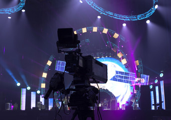 TV Professional studio digital video camera