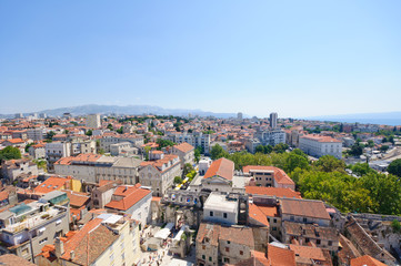Cityscape of Split in Croatia