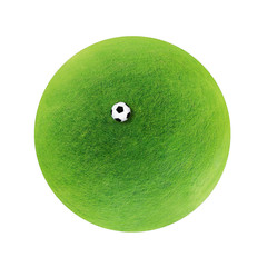 Football green planet