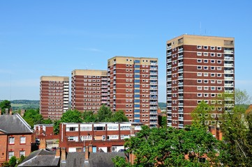 Residential apartment blocks, Tamworth © Arena Photo UK