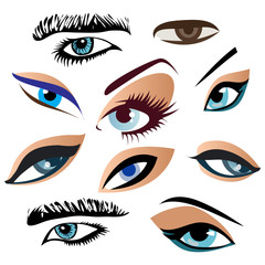 Symbolic abstract eyes. Vector