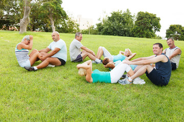 People doing exercises