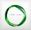 Green ring - business abstract bubble