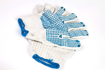 Knitted working gloves
