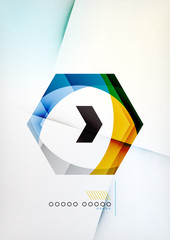 Arrow Geometric Shape Abstract Business Background