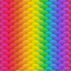 Rainbow blobs seamless vector background