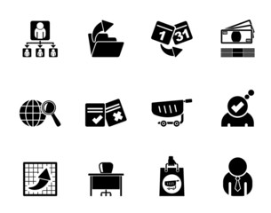Silhouette Business,  Management and office icons