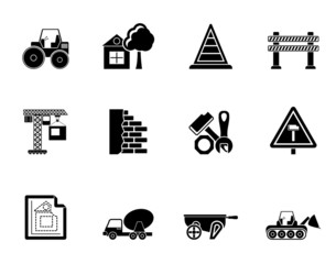 Silhouette Construction and building Icons