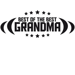 Best Of The Best Grandma Logo