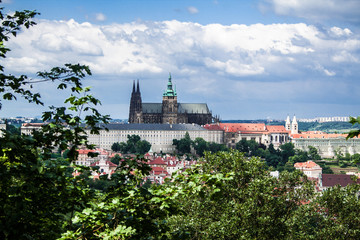 panoramic view of St. Vitus Cathedral