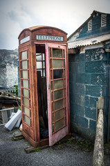 Old disused phonebox
