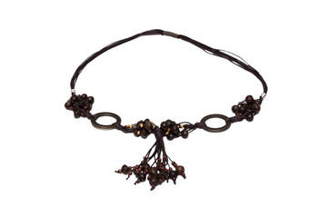 Necklace of dark wood