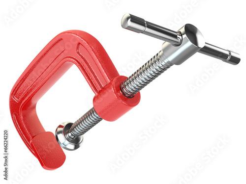C-clamp hand vise.