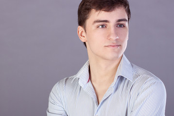 Young businessman in shirt