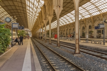 Nice, France. Railway station