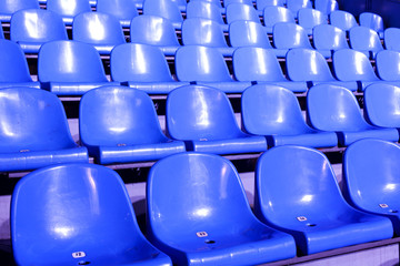 chairs for the audience in the stadium