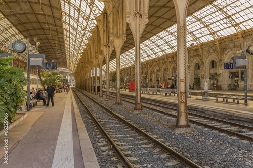canvas print picture Nice, France. Railway station